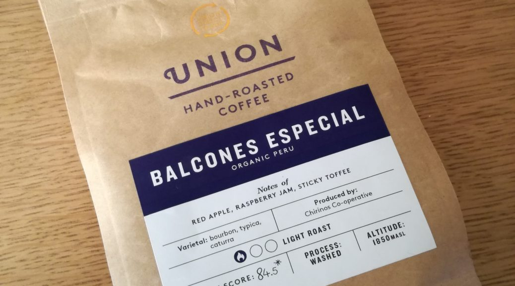 Union Balcones Especial for grinding at home